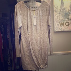 BCBG Generation Silver snakeskin dress brand new
